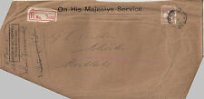 Kangaroo stamp 6d brown small multi watermark OS on cover registered Melbourne