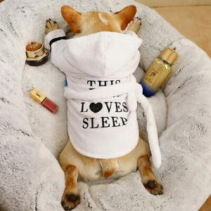 Pet Puppy Cat Dog Bathrob Pajamas Indoor Soft Pet Bath Drying Towel Clothes New