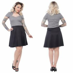 ROCK STEADY CLOTHING ANGLES BLACK HOUNDSTOOTH PINUP RETRO DRESS PLUS 3X