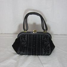 Vintage Black Velvet Evening Handbag Purse Coblentz Original Marshall Field & Co