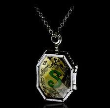 New Harry Potter Slytherin Locket Horcrux Pendant Necklace Salazar Fancy Charm
