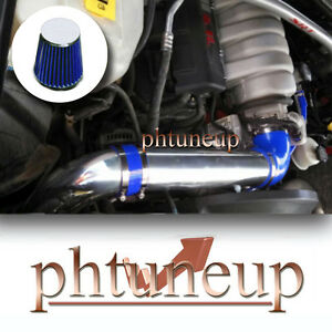 BLUE 2006-2010 JEEP COMMANDER GRAND CHEROKEE 5.7 5.7L  COLD AIR INTAKE KIT