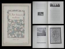 L'ART FRANCAIS MODERNE - N°8 - 1918 - MUSEE GALLIERA, LIVRE RELIURE GRAPHISME