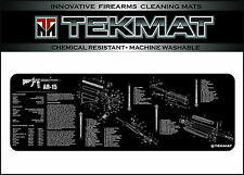AR 15 TekMat 12 X 36 Inch Long Gun Cleaning Bench Mat with AR15 Parts List Black