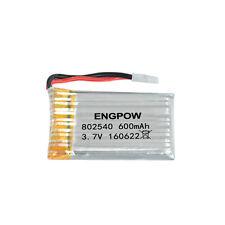 3.7V 852540 600mah Li-ion Rechargeable Battery For UAV Airplane Car Model NEW UK