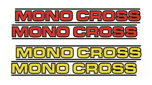 1 set of MONO CROSS  DT, XT, TT, YZ,Stickers / Decals for Swing Arm non OEM.