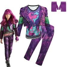 Descendants 3 Mal Costume Girl Kids Fancy Dress Cosplay Outfits Jumpsuits Gloves
