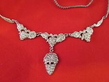 Sterling Marcasite 1930's 40's Necklace Grape Design by THEDA  (836)