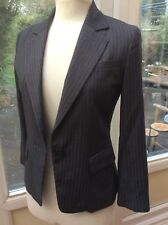 Ladies NATURAL BEAUTY BASIC Smart Grey Pinstripe Formal Jacket  : Size Small S