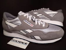 2011 Reebok CLASSIC CL NYLON PLATINUM GREY SILVER WHITE JET NAVY BLUE 36088 13