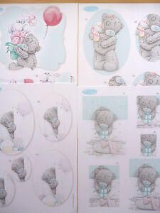 4 x A4 sheets tatty teddy Pyramage-all different-8 packs to choose+30 sheet pack