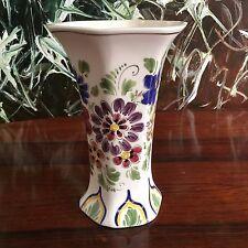 MAKKUM Holland Handwerk  -  schöne Vase mit Blumendekor