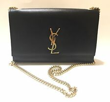 YSL Yves Saint Laurent Kate Black Monogram Bag Medium
