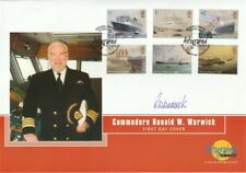 13 APRIL 2004 OCEAN LINERS FIRST DAY COVER HAND SIGNED COMMODORE WARWICK SHS