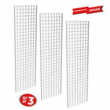 Commercial Grade Chrome Gridwall Panels –2'X7' - 3Pk
