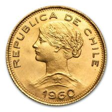 Chile Gold 100 Pesos AU - SKU #45514