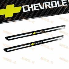 X2 Carbon Fiber Car Door Welcome Plate Sill Scuff Cover Panel Sticker Chevrolet