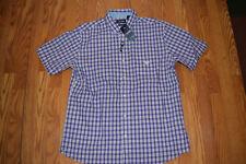 Mens Chaps Purple Button up Plaid Dress Shirt Sz M