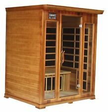 3 Person Cedar Indoor Infrared Sauna Spa Carbon Heater FAR