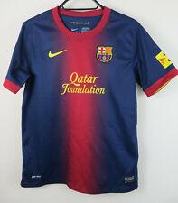 Nike Barcelona 2012-13 Camiseta De Fútbol Home Jersey Niños Niños Yth Lb grande 12-13