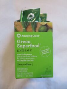 Amazing Grass Green Superfood Energy 14 Packets 0.24 Oz Each Lemon-Lime @5