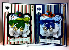 Snowman 5 pc set (get photo #2) L@@K@examples Art impressions rubber stamps