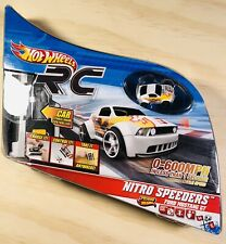 Hot Wheels RC Nitro Speeders Ford Mustang GT w/ Remote & Charger White - NiB