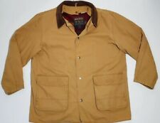 Woolrich Barn Coat Wool Blanket Lined Size M Field Jacket Mens Removable Liner