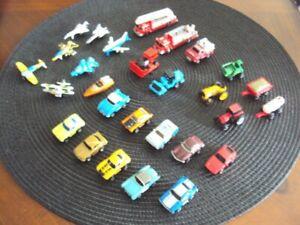 Lot of 27 Micro Machines (Plane, Fire, Farm, Car Etc)