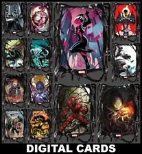 Topps Marvel Collect SYMBIOTES [13 CARD BLACK SYMBIOTIZED DIE-CUT SET]