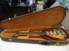 VINTAGE VOX Mark XII V223 Teardrop Sunburst 1960s Acoustic Electric Guitar Wcase