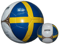 Derbystar Länder-Fußball Schweden Fan-Fussball Sweden Sverige Training-Ball Gr.5
