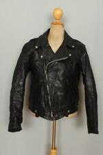Vtg 1950s HORSEHIDE Leather CHP Heavyweight Motorcycle Biker Jacket Large