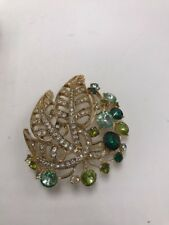 leaves cluster Brooch Pin A7 $35 Anne Klein gold Tone