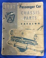 1949-1952 Ford Passenger Car Chassis Parts and Accessories Catalog FoMoCo