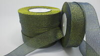 """NEW 5yards 1 """"25mm glitter ribbons Bling for DIY Wreaths decorated and Bows T3PA"""