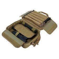 NcStar VISM Padded Double Pistol Range Bag w/Double Stack Magazine Pouches TAN