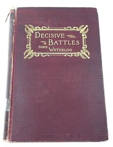 Decisive Battles Since Waterloo 1897 Knox Antique Book Maps Revised 3rd Ed Index