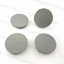 4x Centre Caps for ALLOY WHEEL HUB 55 - 52mm FORD NISSAN Grey Matte