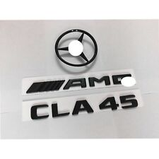For Mercedes CLA Class W117 Glossy Black CLA45+ AMG + Star Badges Stickers 2014+