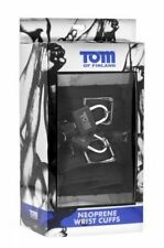 Tom of Finland Neoprene Wrist Cuffs with Lock XR Brands, Sealed Box - AUS Stock