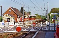PHOTO  1992 ELSENHAM RAILWAY STATION VIEW SE TOWARDS BISHOPS STORTFORD AND LONDO