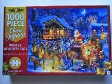 Jigsaw Puzzles 1000 Pcs Set Winter Wonderland Christmas Hinkler Adult Kids Party