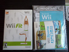 Wii Fit Nintendo Wii Video Game - Used With Manuals