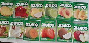 ZUKO Flavors No Sugar Needed Makes 2 Liters Of Drink Mix 12 different pouches