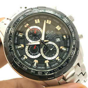 Gents Casio Edifice Date Quartz CUSTOM MOD Watch Case Size 46mm Wrist Watch