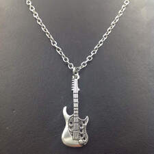 Guitar Necklace,Silver handmade necklace,Fashion charm jewelry pendants