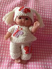 *KNITTING PATTERN* FOR 5 INCH BERENGUER OR SIMILAR DOLL USES 4 PLY WOOL
