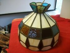 Tiffany style stained glass multi-color lamp shade