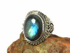 LABRADORITE   Sterling  Silver  925  Gemstone  RING  -  Size  Q  -  Gift  Boxed!